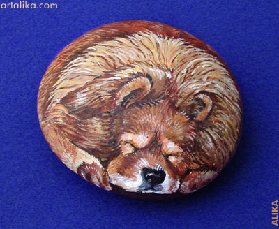 Pictures Of Dogs Painted On Rocks